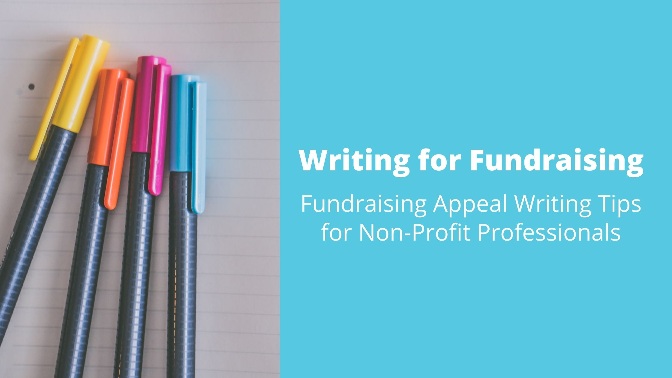 Writing for Fundraising: Fundraising Appeal Writing Tips for Non-Profit Professionals
